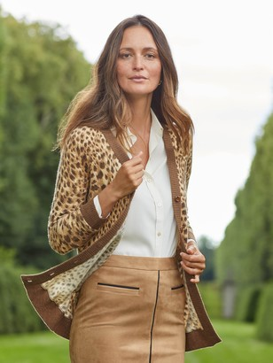 J.Mclaughlin Karson Cashmere Cardigan in Safari
