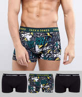 Jack and Jones 3 Pack Trunks With Comic Print