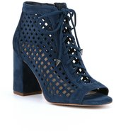 Gianni Bini Bennie Laser-Cut Peep-Toe Booties