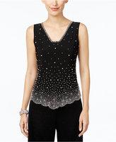 MSK Sleeveless Embellished Blouse
