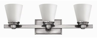 Avon Hinkley Lighting 3-Light Vanity Light Hinkley Lighting Finish: Brushed Nickel, Shade Color: Opal Glass, Bulb Type: Incandescent