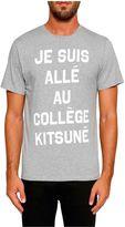 Kitsune Quote Print T-shirt