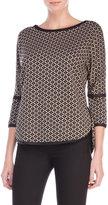 Max Studio Knit Jacquard Sweater