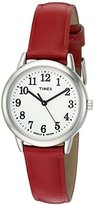 Timex Women's T2N952 Elevated Classics Dress Watch With Red Leather Band