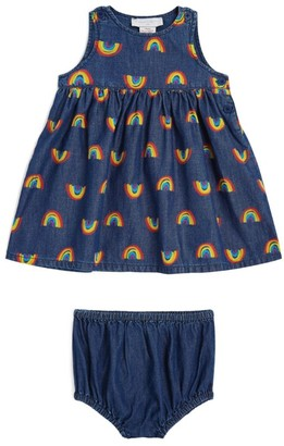 Stella McCartney Rainbow Print Dress and Bloomers Set