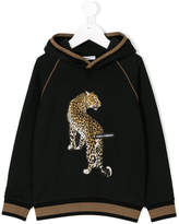 Dolce & Gabbana leopard-patch embellished hoodie