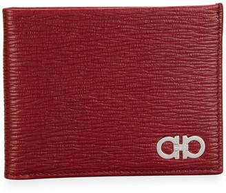 Salvatore Ferragamo Men's Gancini Textured Leather Bifold Wallet