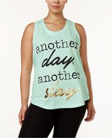 Soffe Plus Size Statement-Print Tank
