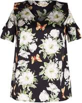 Yumi Butterfly and Flower Pattern Top