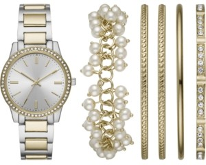 Folio Women's Two-Tone Bracelet Watch 36mm Gift Set