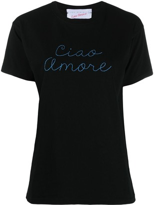 Giada Benincasa Ciao Amore embroidered T-shirt