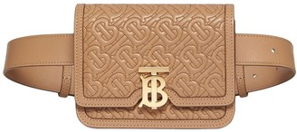 Burberry Belted Quilted Monogram Lambskin TB Bag