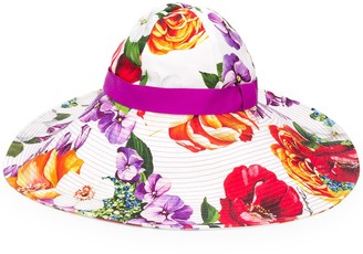 Dolce & Gabbana Floral-Print Sun Hat