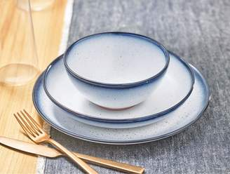 Lucky Brand Blue Edge 12 Piece Dinner Set