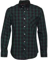 Ben Sherman Large Check Button Down Shirt Dark Chocolate