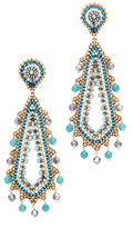 Miguel Ases Beaded Statement Earring