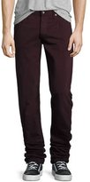 Rag & Bone Fit 2 Slim-Leg Twill Jeans, Distressed Wine