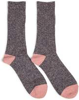 Anonymous Ism Tweed Knuued Yarn Crew Socks Grey - Grey
