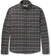 Michael Bastian Button-Down Collar Checked Cotton-Flannel Shirt