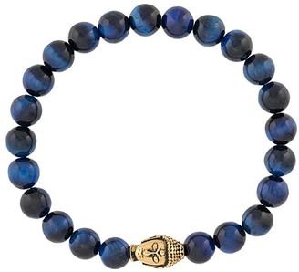 Nialaya Jewelry Beaded Engraved Head Bracelet