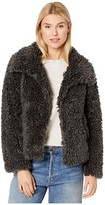 True Grit Dylan By Dylan by Fluffy Faux-Sherpa Snap Jacket with Side Pockets (Jet) Women's Clothing