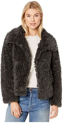 True Grit Dylan by Fluffy Faux-Sherpa Snap Jacket with Side Pockets