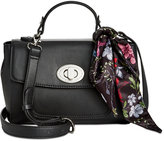 Giani Bernini Top Handle Flap Crossbody with Scarf, Created for Macy's