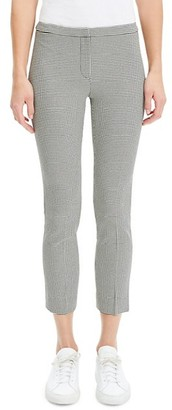 Theory Houndstooth Skinny Cropped Pants