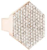 Jennifer Fisher Pavé Diamond Hex Signet Ring