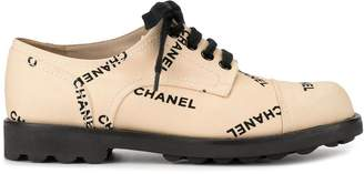 Chanel Pre-Owned embroidered logo sneakers