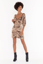 Nasty Gal Womens Into The Wild Leopard Mini Dress - Brown - S, Brown