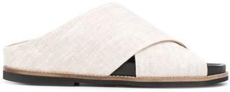 Ganni Crossover Straps Sandals