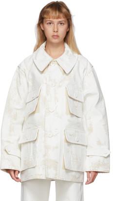 Maison Margiela White Painted Jacket