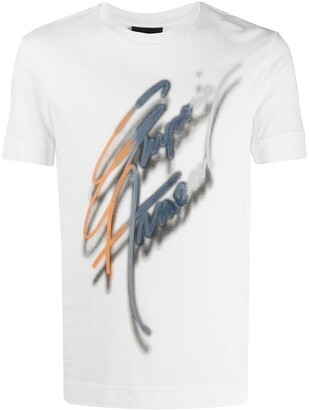 Emporio Armani logo signature print T-shirt