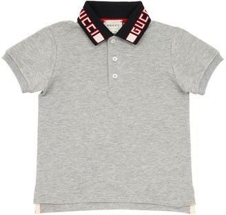 Gucci Stretch Cotton Pique Polo Shirt