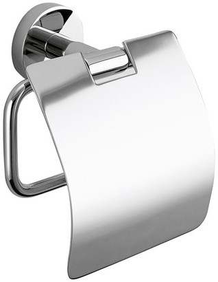 Dwba Bath Collection DWBA Wall Toilet Paper Holder w/ Lid, Tissue Roll Holder. Polished Chr