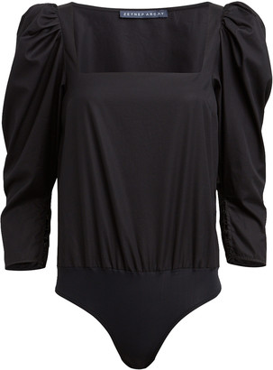ZEYNEP ARCAY Cotton Poplin Puff Sleeve Bodysuit