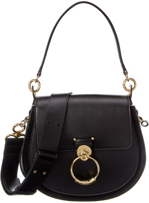 Chloé Tess Large Leather & Suede Shoulder Bag