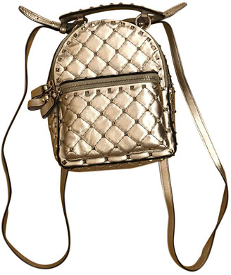 Valentino Rockstud spike Silver Leather Backpacks