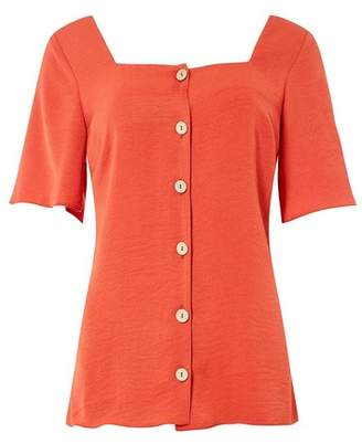 Dorothy Perkins Womens **Tall Rust Button Top