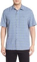 Tommy Bahama G Day Gingham Short Sleeve Silk Sport Shirt