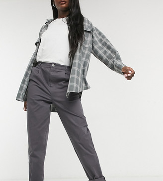 Asos Tall ASOS DESIGN Tall chino pants in charcoal
