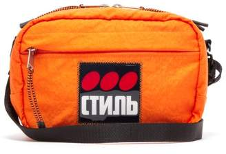 Heron Preston Applique Canvas Cross Body Bag - Mens - Orange