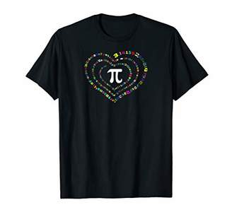 Pi novelty heart-shaped spiral shirt for Day T shirt