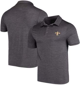 Majestic Men's Heathered Charcoal New Orleans Saints Iconic Positive Production Polo