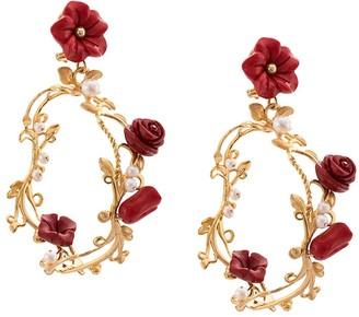 OF RARE ORIGIN Flower Applique Earrings