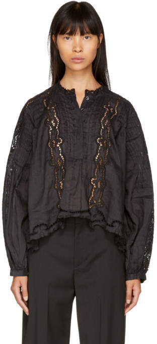 Isabel Marant Black Maly Blouse