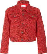Current/Elliott The Baby Leopard Print Trucker Jacket