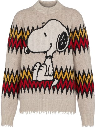 Alanui x Peanuts Snoopy Plays Harmonica wool and cashmere sweater