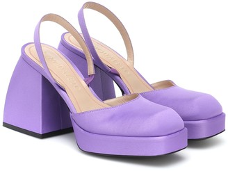 Nodaleto Bulla Jones satin platform pumps